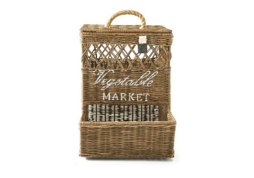 RIVIERA MAISON Rustic Rattan Wall Basket Open Weave