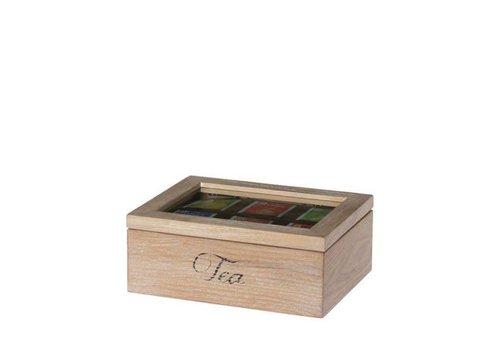 Theedoos Tea time nat. 6-vaks 23cm
