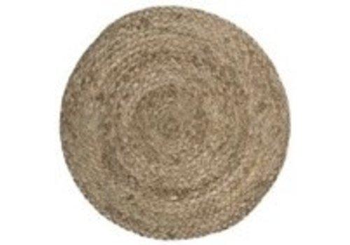IB LAURSEN Place mat round dark natural