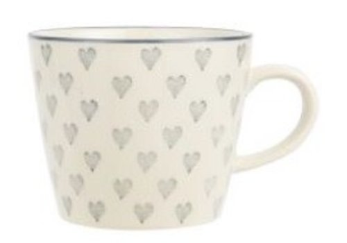 IB LAURSEN Mug Grey Hearts 1582-18
