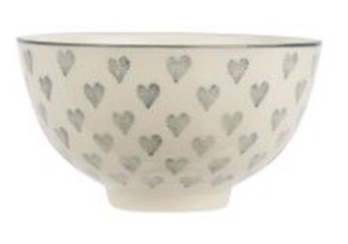 IB LAURSEN Bowl small Grey Hearts