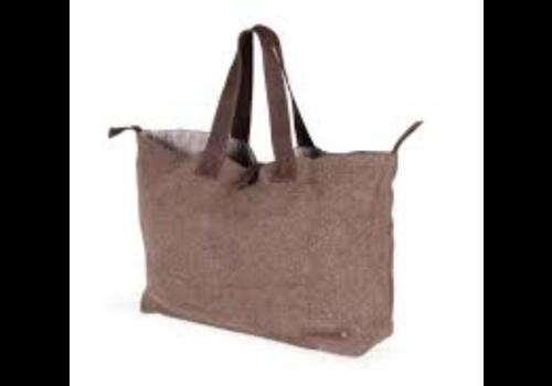 Bobag travelbag brown with brown leather handle