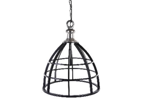 PTMD Denver metal hanging open lamp with aluminium top