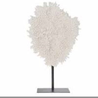 Polyresin coral with metal stand 59x20x77cm