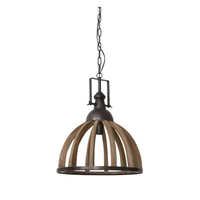 Hanglamp 47x58 Djem hout kop zink
