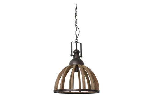 LIGHT & LIVING Hanglamp 47x58 Djem hout kop zink
