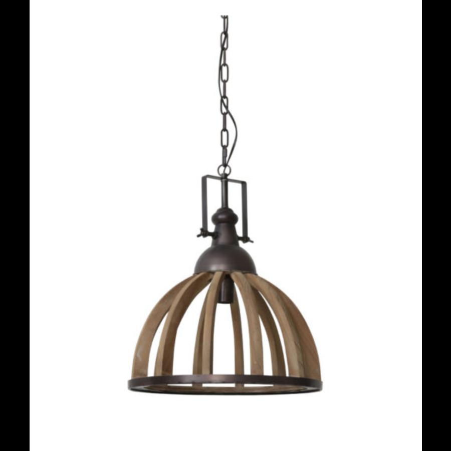 Hanglamp 47x58 Djem hout kop zink-1