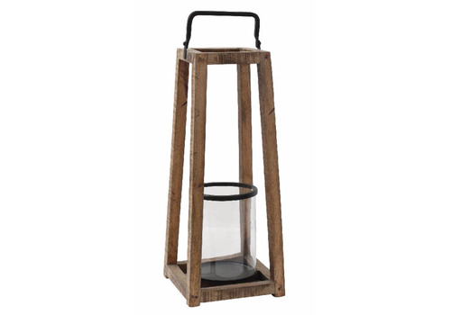 Meryl wood natural open lantern rectangle L