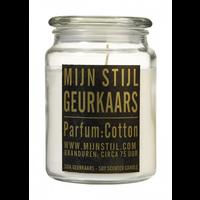 Geurkaars Soja glazen pot geur cotton XL