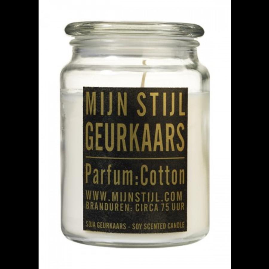 Geurkaars Soja glazen pot geur cotton XL-1