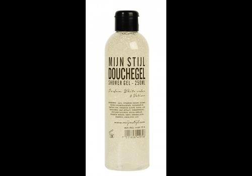 MIJN STIJL Douchegel White Cedar en Vetiver 250 ml transparante fles