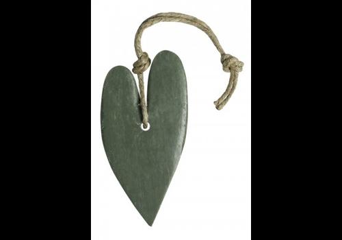 MIJN STIJL Hart XL circa 100 gram (leger)groen parfum olive