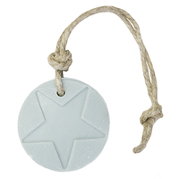 Hanger schijf ster licht blauw parfum linnen 70 gram