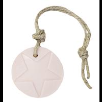 Hanger rond ster licht roze parfum mille fleur 70 gram