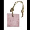 MIJN STIJL Zeephanger vierkant circa 85 gram oud roze met zemelen geur roos
