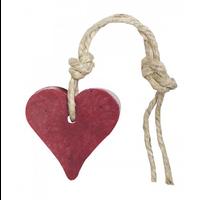 Hanger hart 55 gram kersenrood met cranberrypit parfum vijg