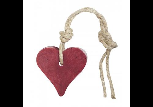 MIJN STIJL Hanger hart 55 gram kersenrood met cranberrypit parfum vijg
