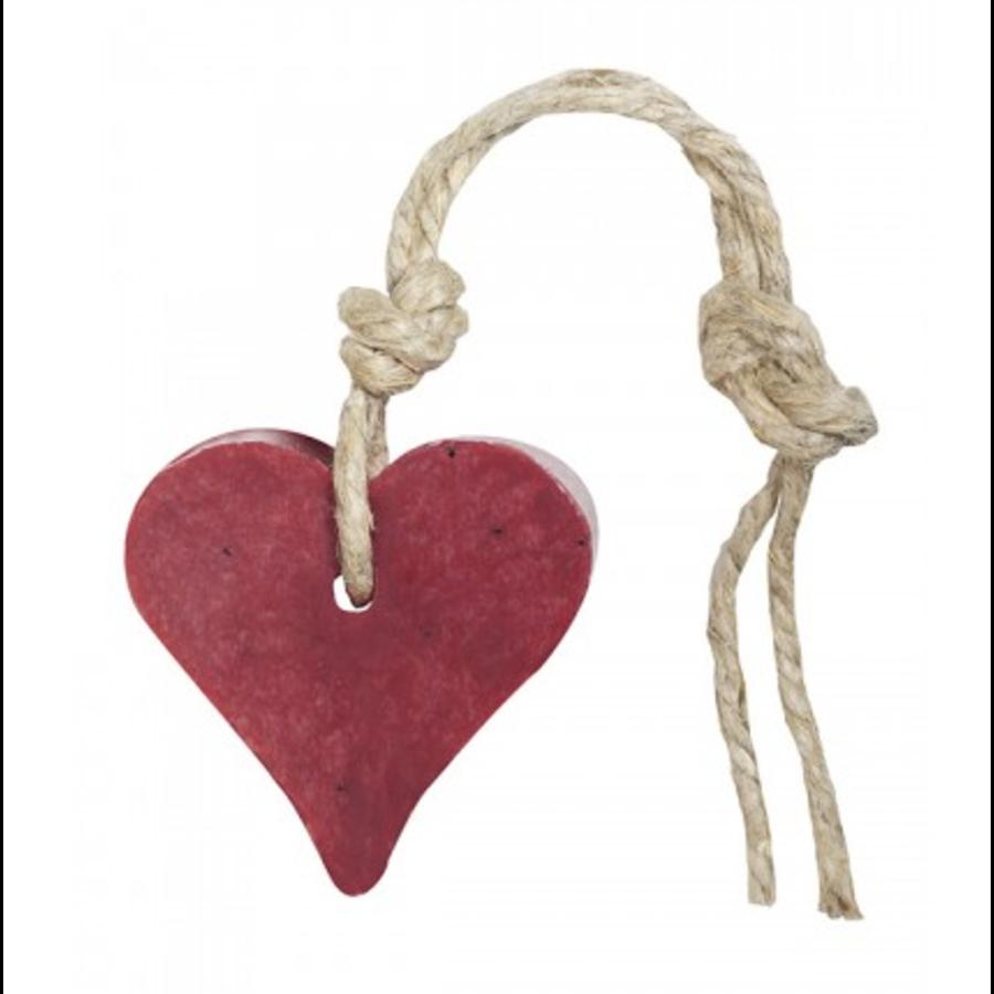 Hanger hart 55 gram kersenrood met cranberrypit parfum vijg-1
