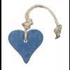 MIJN STIJL Hanger hart 55 gram donker blauw jeans parfum mille fleur