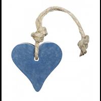 Hanger hart 55 gram donker blauw jeans parfum mille fleur
