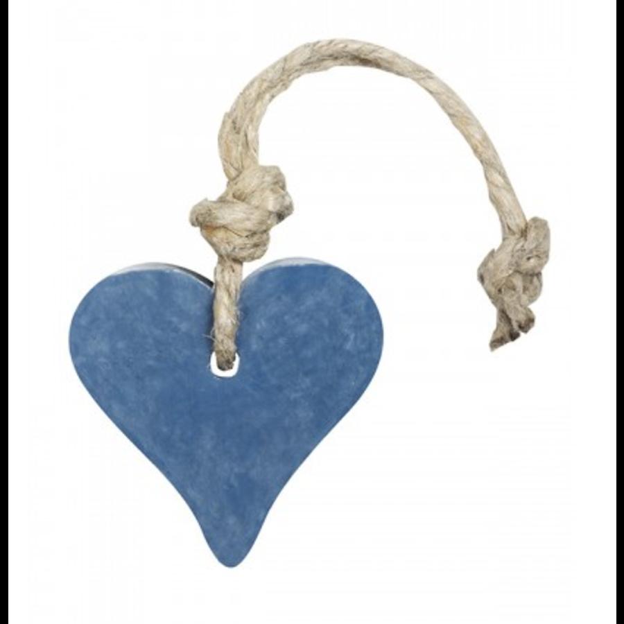 Hanger hart 55 gram donker blauw jeans parfum mille fleur-1