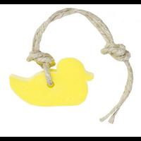 Hanger eendje 35 gram geel parfum citroen