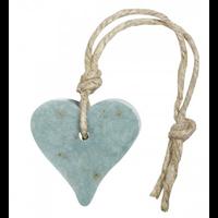 Hanger hart 55 gram blauw/petrol met oregano geur olive