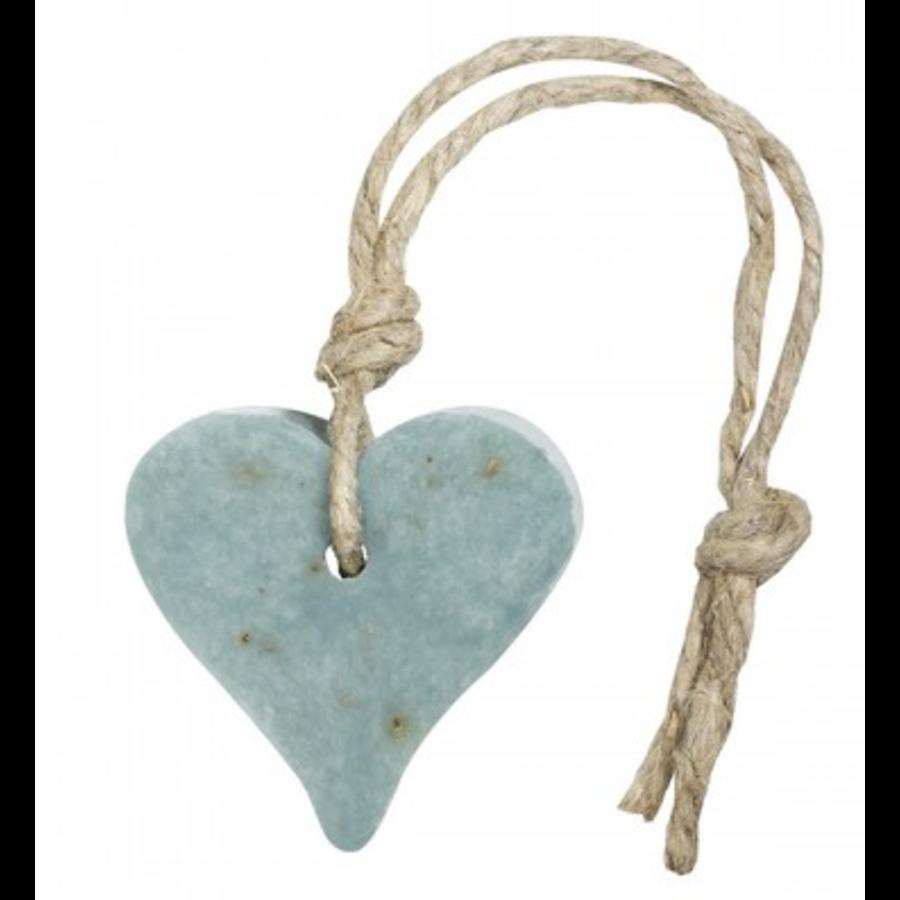 Hanger hart 55 gram blauw/petrol met oregano geur olive-1
