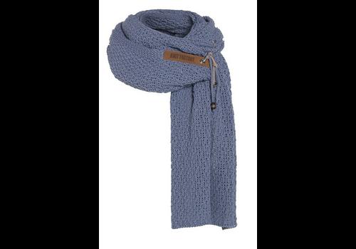 KNIT FACTORY Luna sjaal indigo