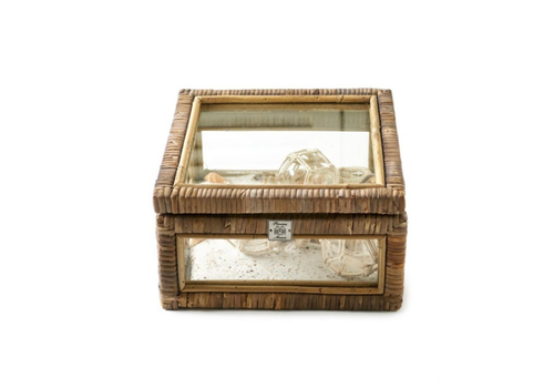 RIVIERA MAISON Rustic rattan french glass box s