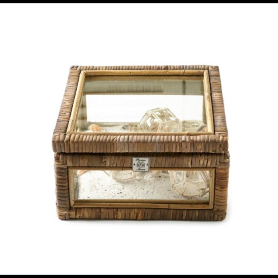 Riviera Maison Rattan Bijzettafel.Riviera Maison Rustic Rattan French Glass Box S