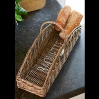 Rustic Rattan Baguette Basket