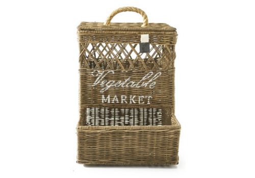 RIVIERA MAISON Rustic Rattan Wall Basket Closed Weave