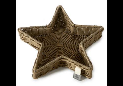 RIVIERA MAISON Rustic Rattan Star Tray S