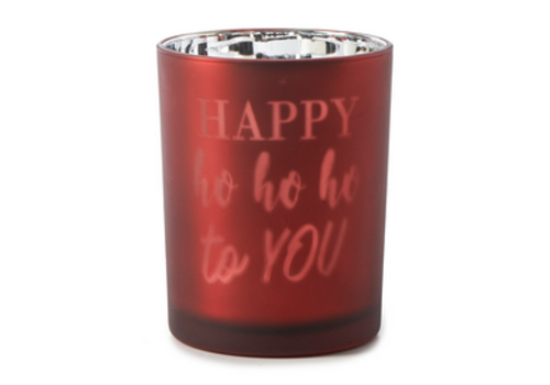 RIVIERA MAISON Happy Ho Ho To You Votive red M