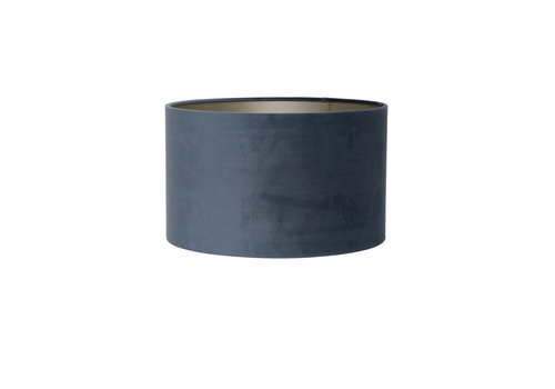 LIGHT & LIVING Shade cylinder 40-40-30 cm VELOURS dusty blue