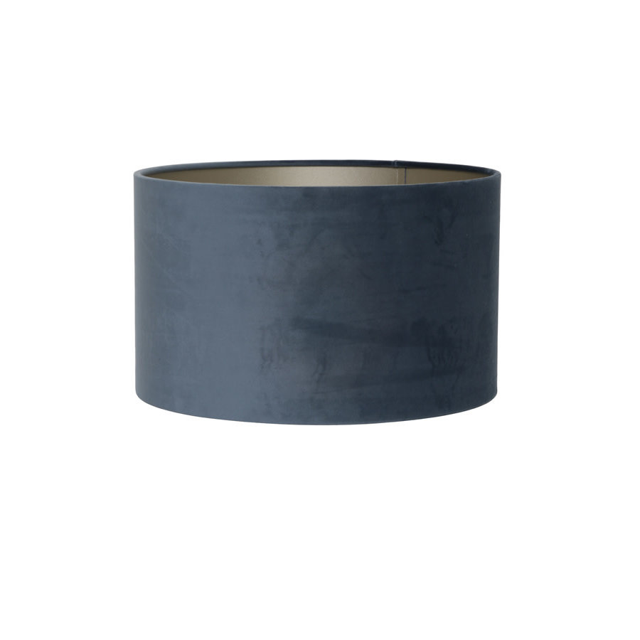 Shade cylinder 40-40-30 cm VELOURS dusty blue-1