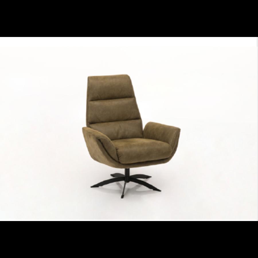 fauteuil cognac zwart staal voet-1