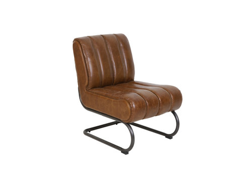 LIGHT & LIVING Chair 58x80,5x76,5 cm Sem leather brown