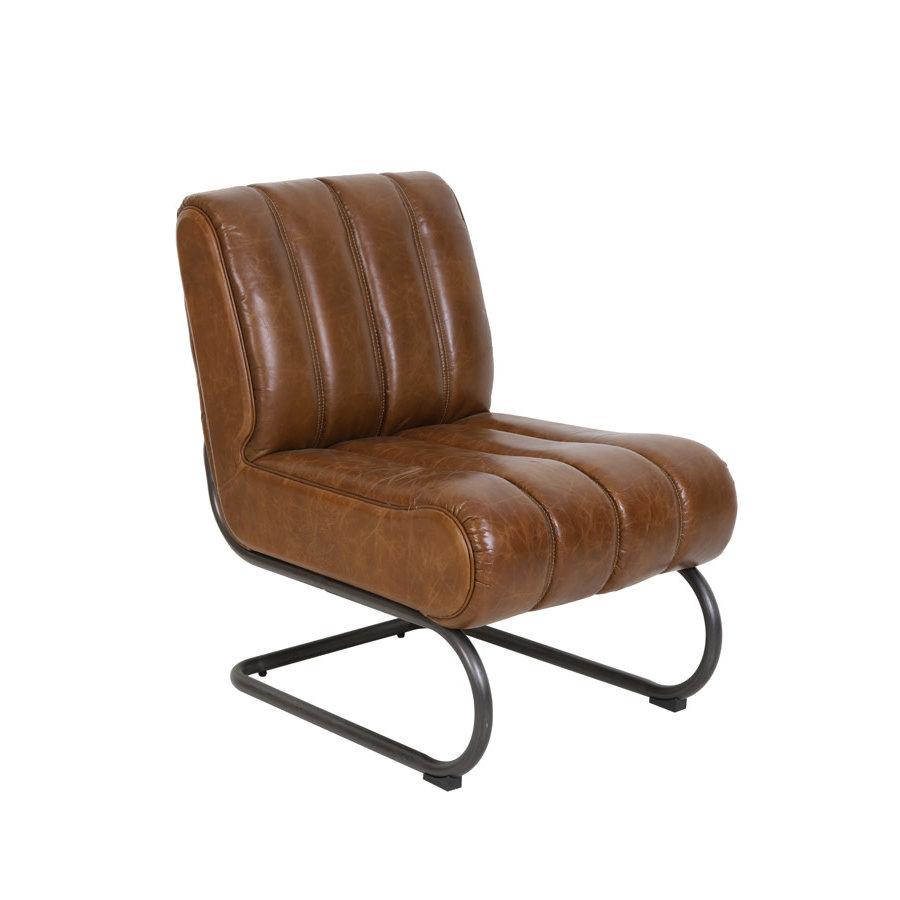 Chair 58x80,5x76,5 cm Sem leather brown-1