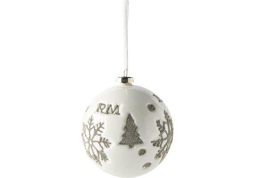 RIVIERA MAISON Snowflake Ornam. snow white Dia 12