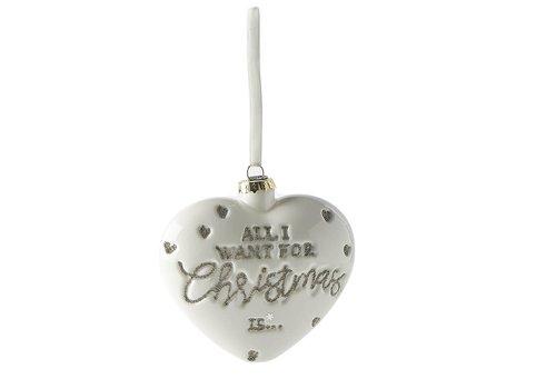 RIVIERA MAISON All I Want ... Heart Ornament white