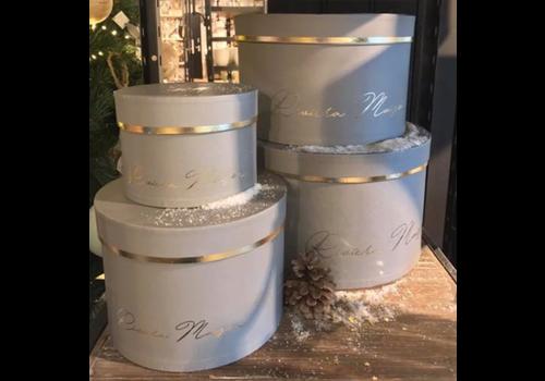 RIVIERA MAISON RM Luxurious Giftbox grey S/4