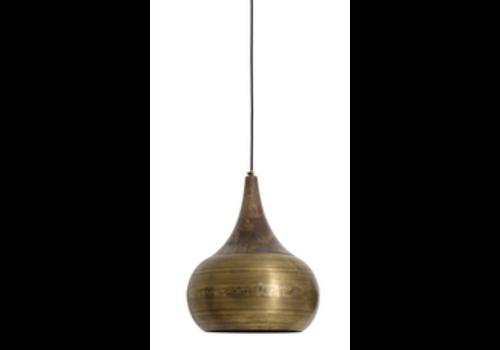 LIGHT & LIVING Hanging lamp Ø35x46 cm SAIDA bronze with wooden top