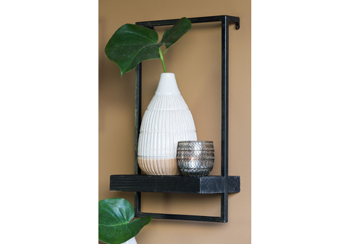 LIGHT & LIVING Wall shelf 30x15x50 cm MADDISON wood black