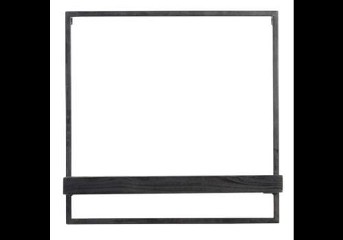 LIGHT & LIVING Wall shelf 50x15x50 cm MADDISON wood black