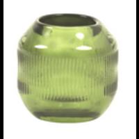Tealight Ø9x9 cm PEPPER glass green