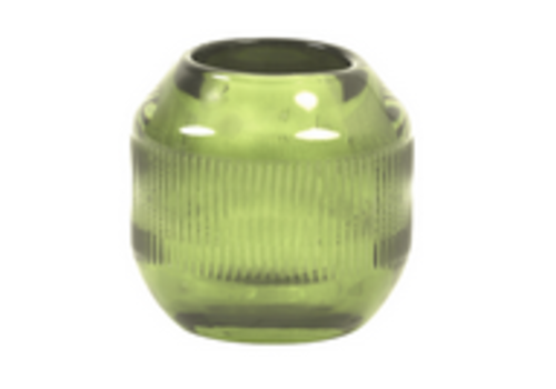 LIGHT & LIVING Tealight Ø9x9 cm PEPPER glass green