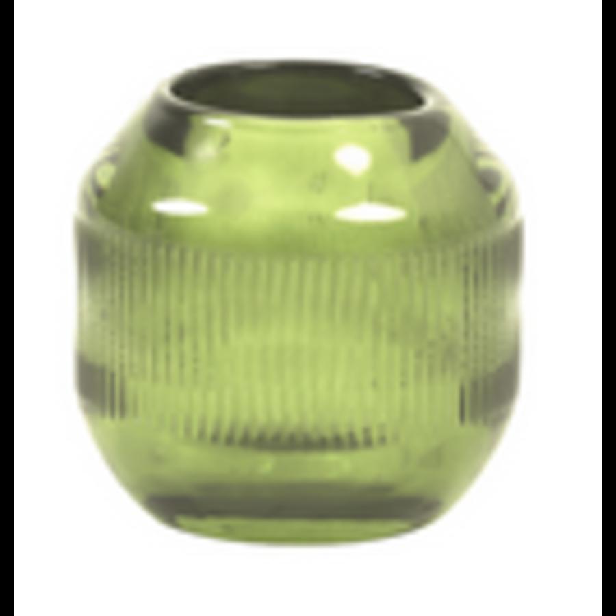 Tealight Ø9x9 cm PEPPER glass green-1