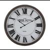 LIGHT & LIVING Clock Ø78x7 cm BANBURY white+brown